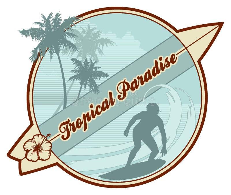 Tropische retro-branding