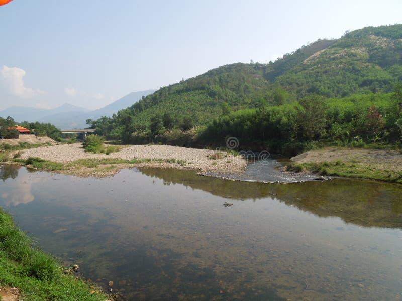 Tropische rivier royalty-vrije stock afbeeldingen