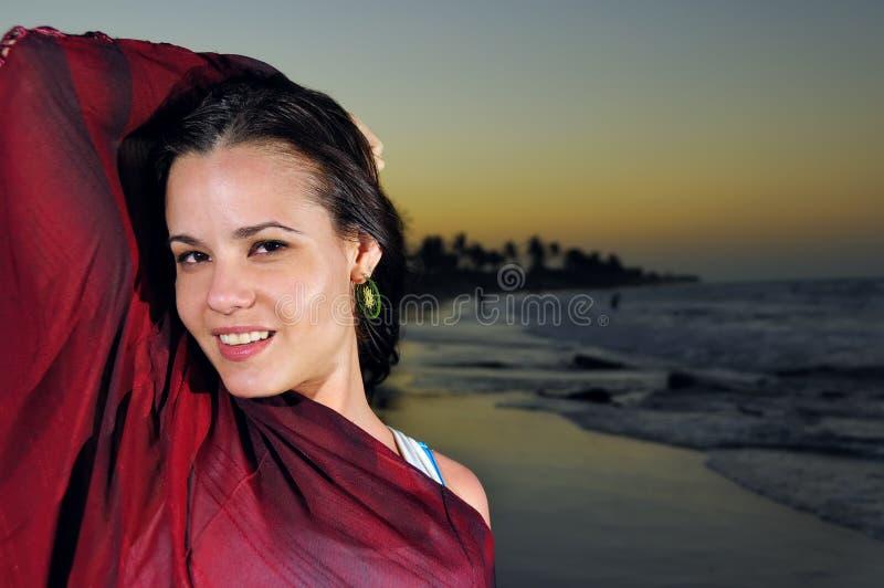 Tropische Schönheit an der Dämmerung stockfotos