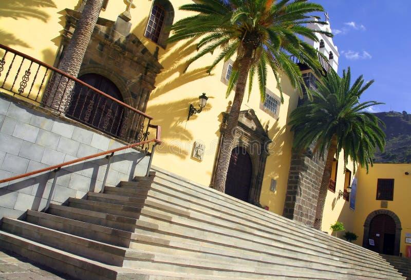 Tropische, Spaanse kerk royalty-vrije stock foto