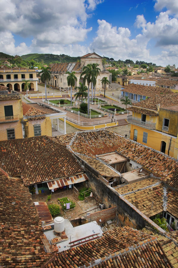 Tropische Stadt Trinidad, Kuba lizenzfreies stockfoto