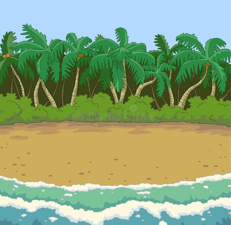 Tropische strandachtergrond royalty-vrije illustratie