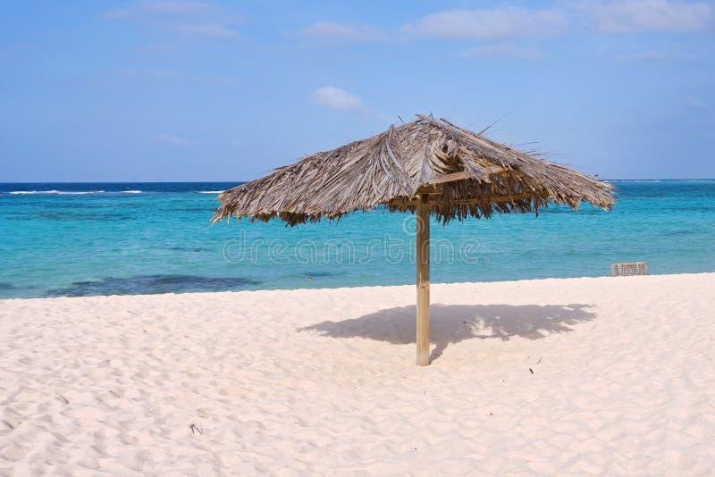 Tropische strandhut royalty-vrije stock foto's