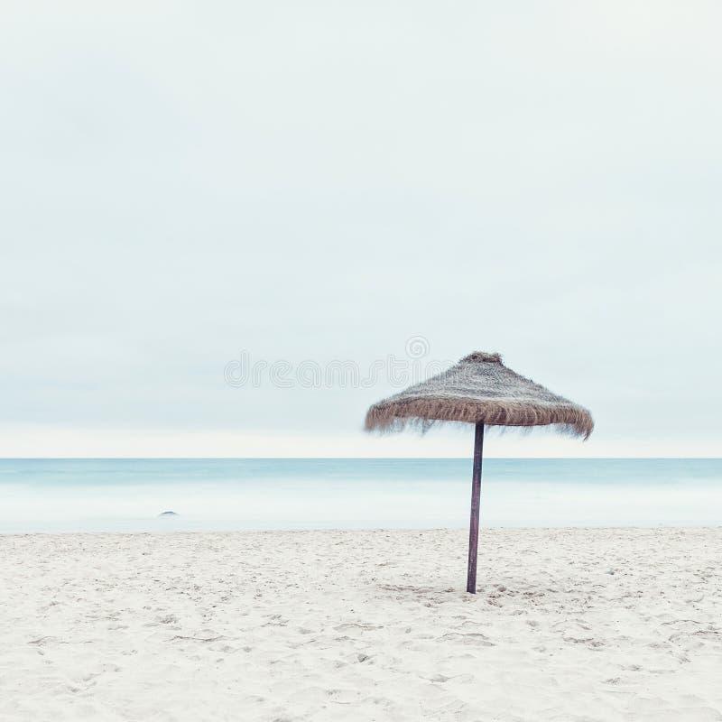 Tropische strandhut royalty-vrije stock foto