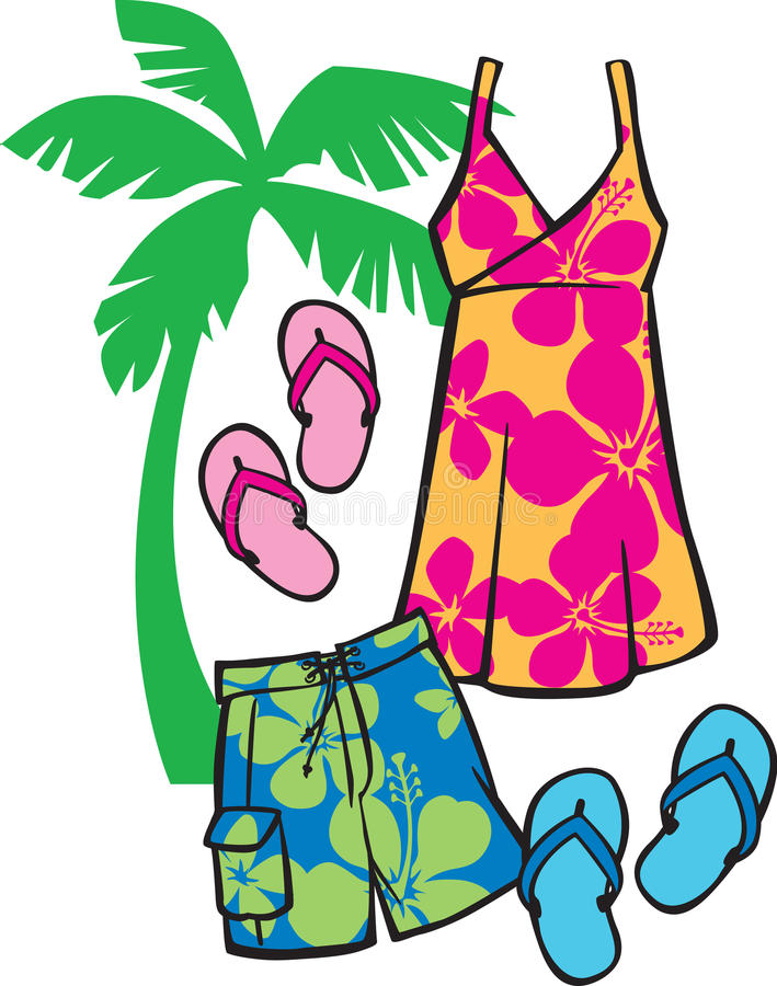 Tropische Strandkleding