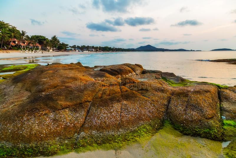 Tropische Strandlandschaft lizenzfreies stockfoto