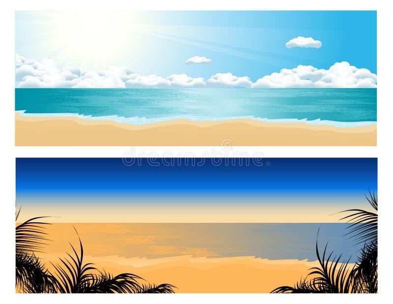 Tropische strandreeks royalty-vrije illustratie