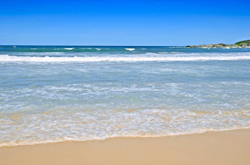 Tropische strandscène royalty-vrije stock foto's