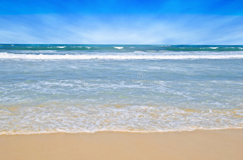 Tropische strandscène royalty-vrije stock fotografie