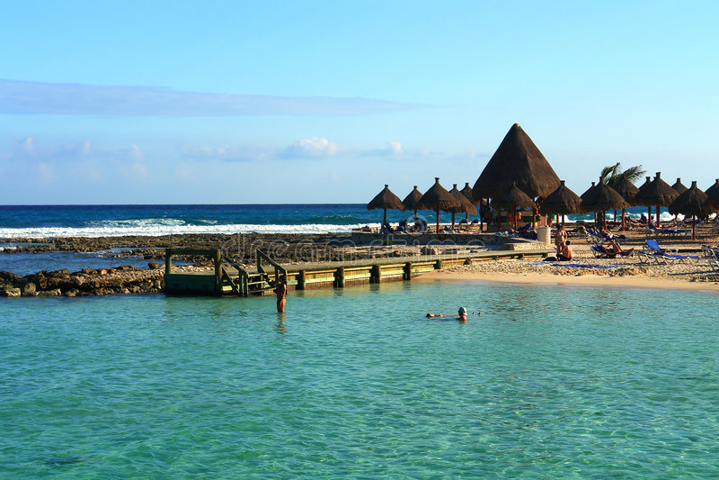 Tropische strandstaaf stock afbeelding