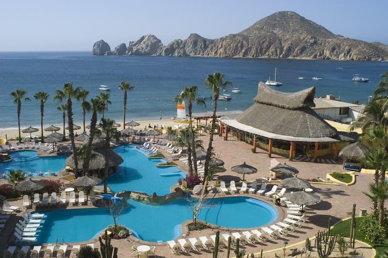 Tropische Toevlucht in Cabo San Lucas, Mexico stock afbeeldingen
