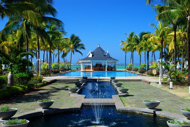Tropische toevlucht. Mauritius royalty-vrije stock fotografie