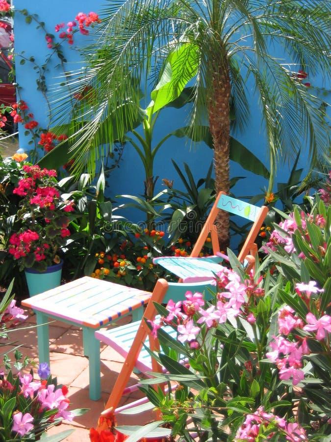 Tropische tuin royalty-vrije stock foto's