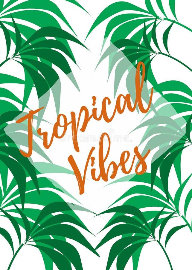 Tropische Vibes-Palmen royalty-vrije illustratie