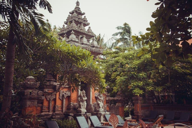 Tropische villa's in Bali royalty-vrije stock afbeeldingen