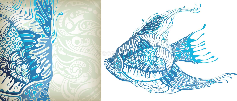 Tropische Vissen stock illustratie