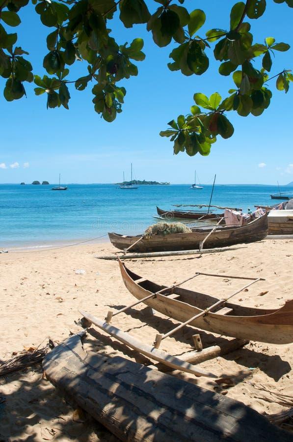 Tropische Vissersboten royalty-vrije stock fotografie