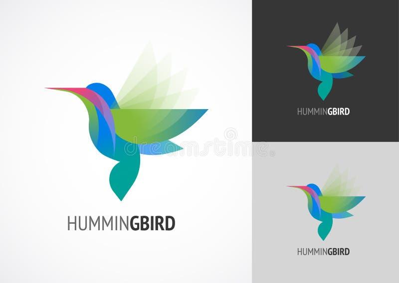 Tropische vogel - zoemend vectorpictogram stock illustratie