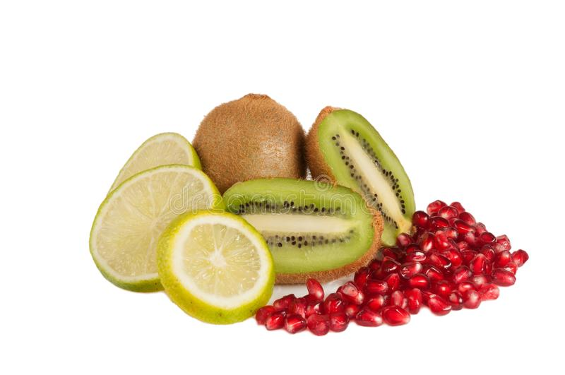 Tropische vruchten samenstelling royalty-vrije stock foto's