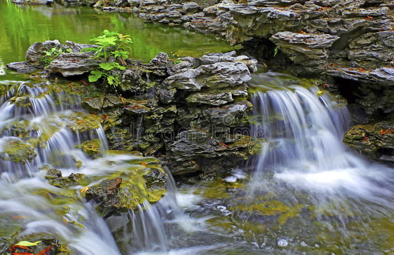 Tropische waterval stock foto