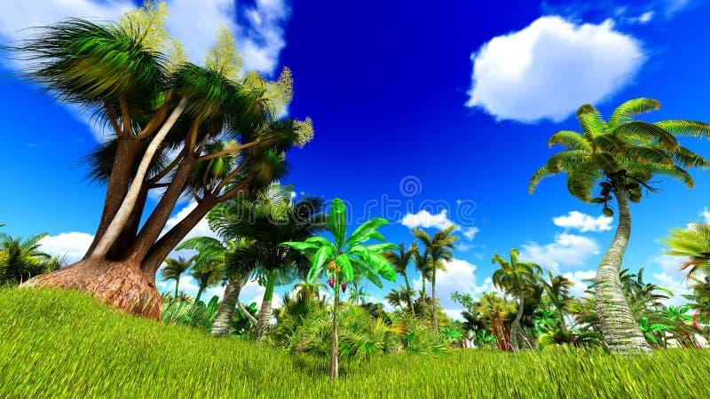 Tropische wildernis 3d illustratie stock illustratie