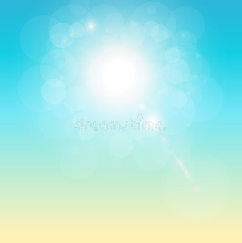 Tropische zonnige achtergrond stock illustratie