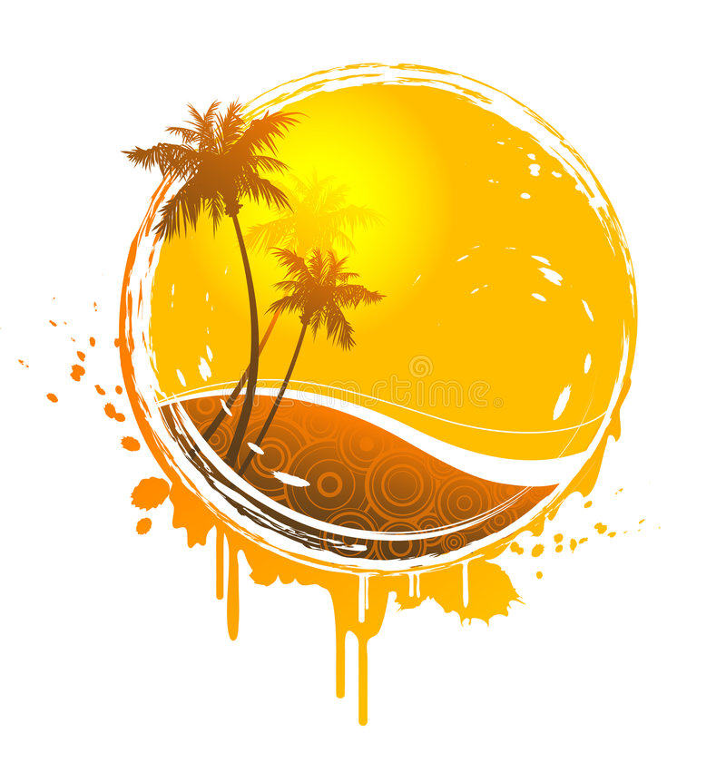 Tropische zonplons stock illustratie