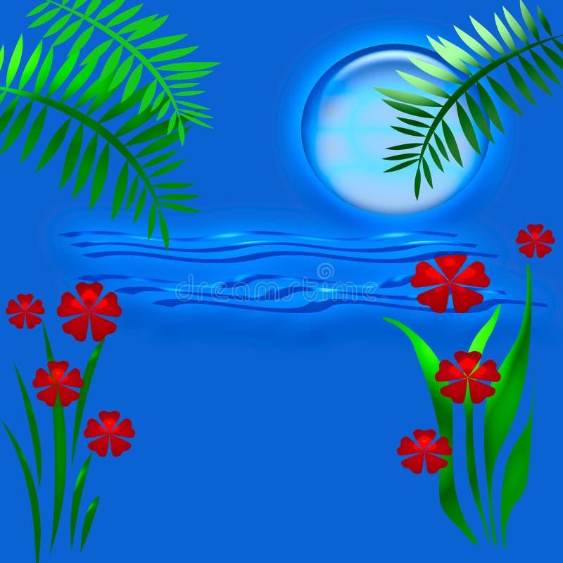 Tropischer blauer Mond stock abbildung