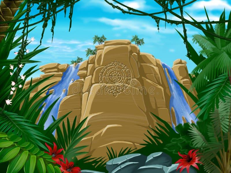 Tropischer Dschungel vektor abbildung
