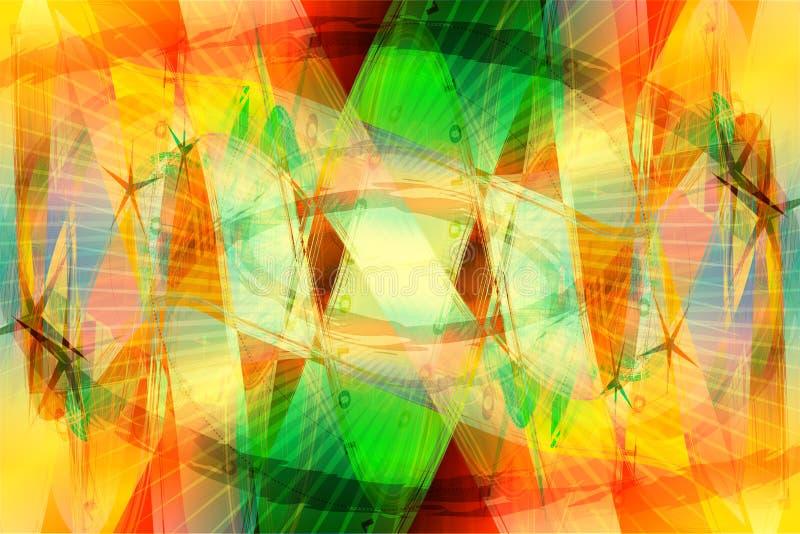 Tropischer Farben-Hintergrund stock abbildung