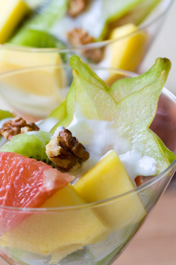 Tropischer Fruchtsalat lizenzfreies stockbild