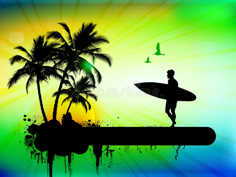 Tropischer Hintergrund lizenzfreie abbildung