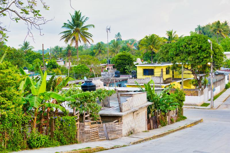 Tropischer Mexikaner Colonia stockfoto