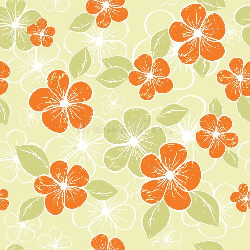 Tropischer nahtloser Blumenhintergrund 3 lizenzfreie abbildung