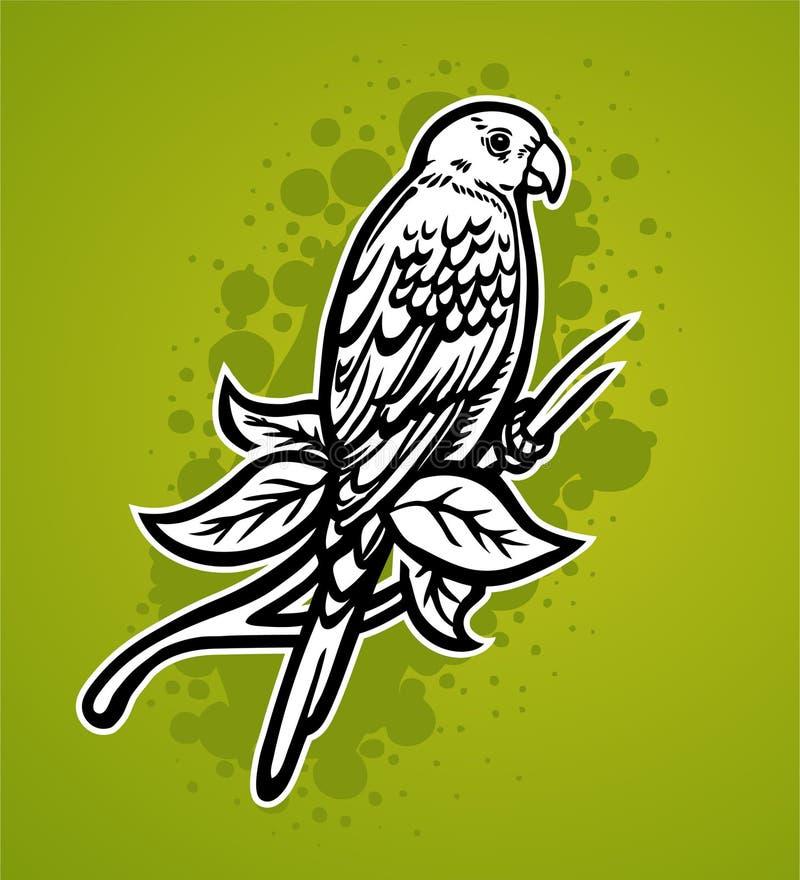 Download Tropischer Papagei vektor abbildung. Illustration von bilder - 12203619