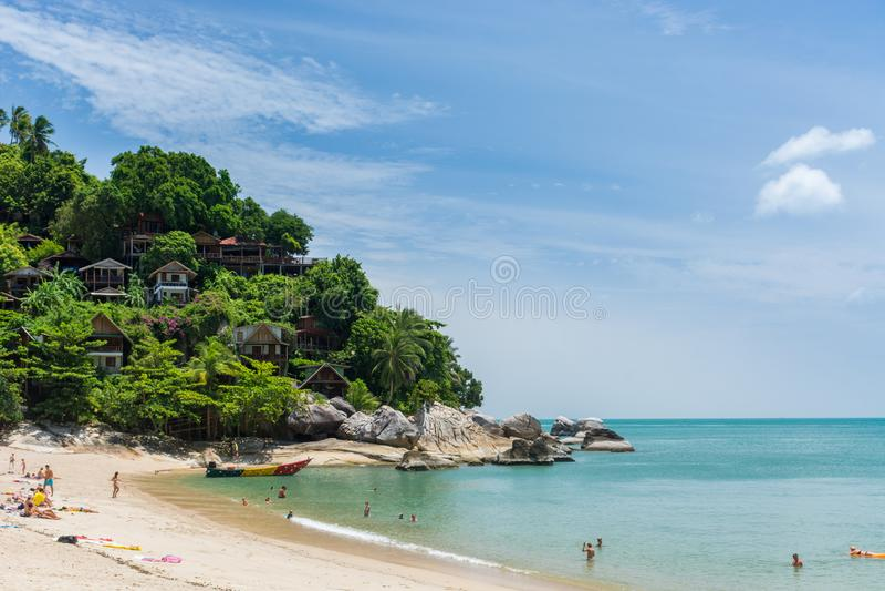 Tropischer Strand - als Sadet Koh Phangan lizenzfreies stockfoto