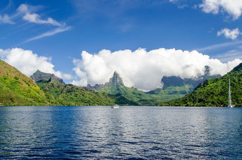 Tropischer Strand, Französisch-Polynesien stockbilder