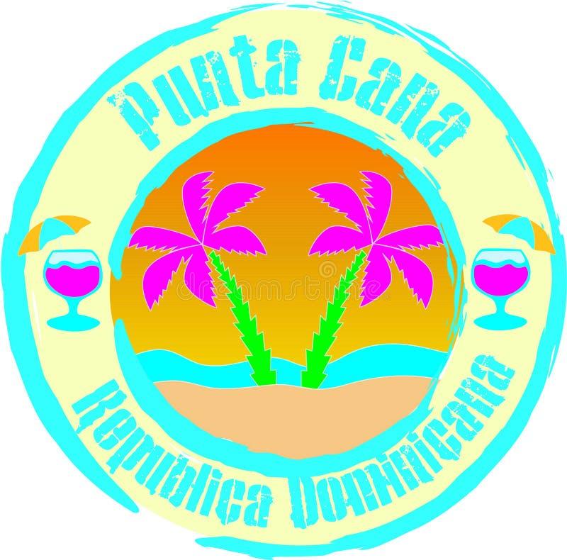 Tropischer Strand mit Palme Illustration, Grafikdesign stock abbildung