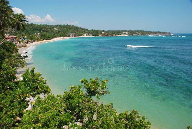 Tropischer Strand - Unawatuna Schacht lizenzfreie stockbilder