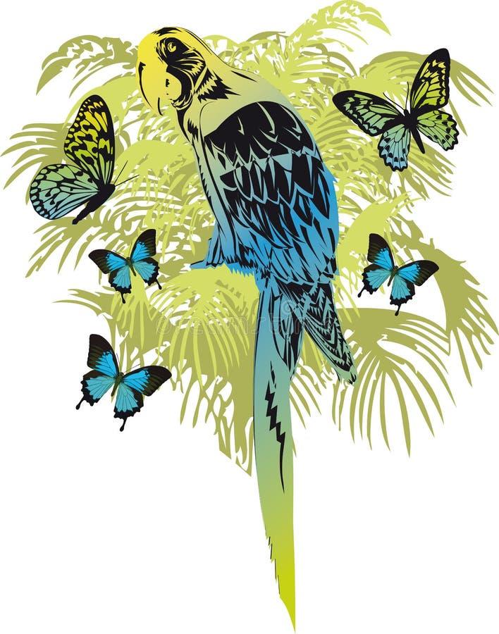 Tropischer Wald lizenzfreie abbildung