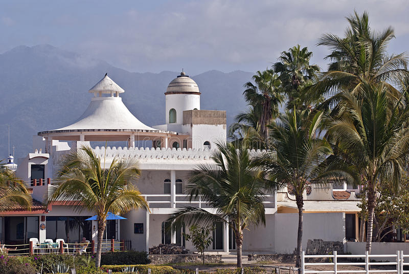Tropischer Wohnsitz in Mexiko lizenzfreie stockfotos