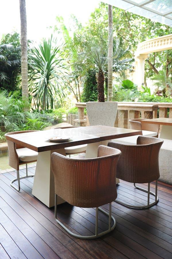Tropisches Art-Restaurant stockbilder