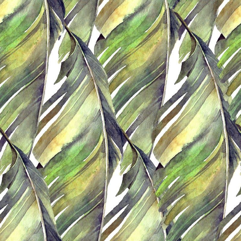 Tropisches Bananenpalmblattmuster vektor abbildung