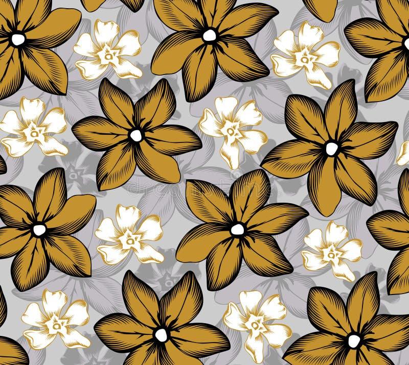 Tropisches Blumenmuster stock abbildung