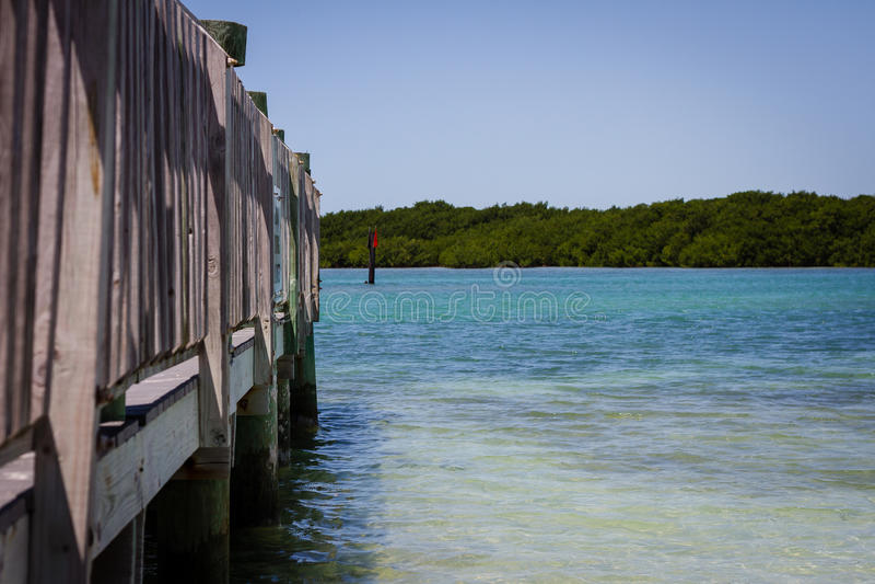 Tropisches Dock lizenzfreie stockbilder