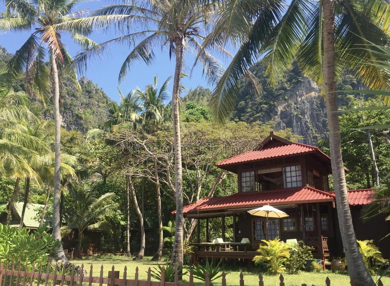 Tropisches Haus lizenzfreies stockfoto