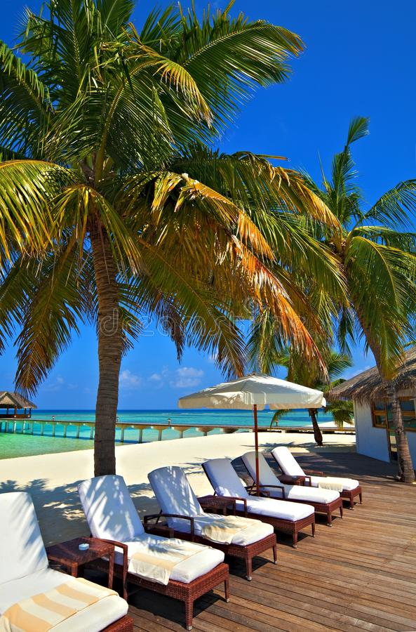 Tropisches Hotel stockfoto