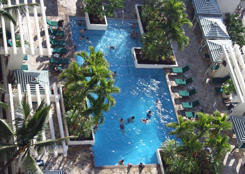 Tropisches Hotel-Pool lizenzfreie stockfotos