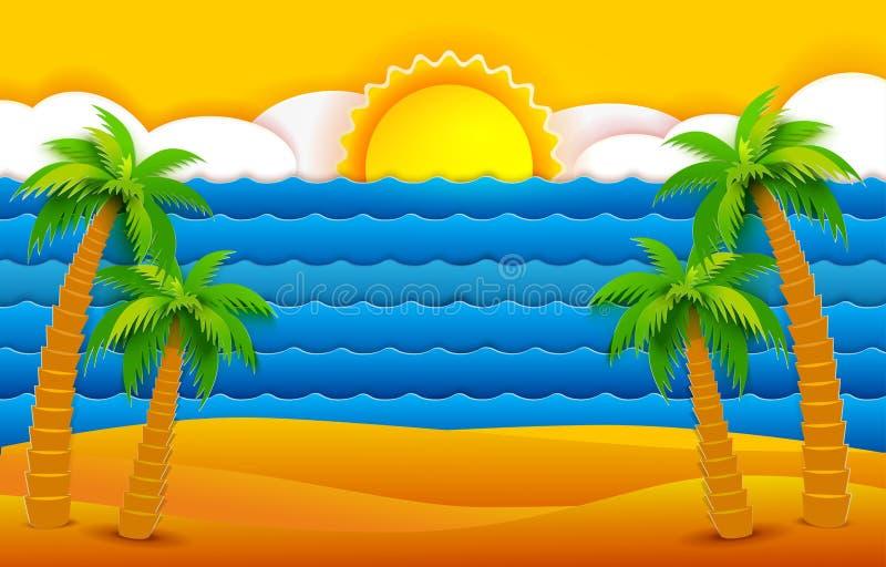 Tropisches Meer und Sonne stock abbildung