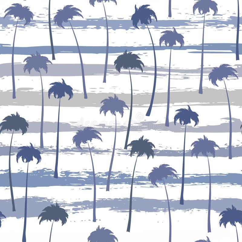 Tropisches nahtloses Muster der Palmen stock abbildung